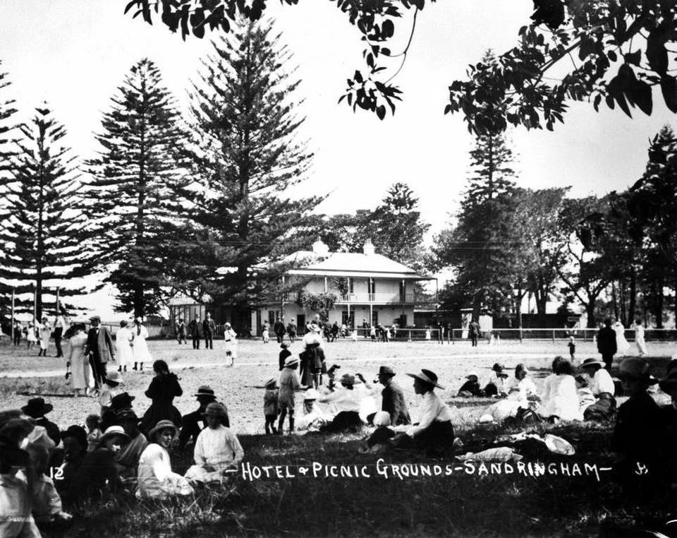 the development of pleasure grounds beside their hotel. Horse-drawn carriages were used until the opening of the Illawarra Railway in 1884 to bring picnickers and holiday makers to this area.