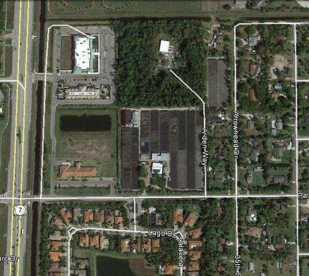 Built Feature Inventory & Map Attachment F Resort Living Communities 9885 Palomino Drive, Palm Beach County Use: Comcast Substation FLU: LR-2 Zoning: AR Use: CLF FLU: INST/8 Zoning: MUPD Use: SFR