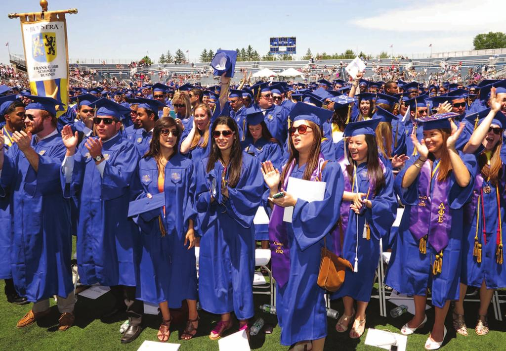 The Class of 2012 had the most successful campaign in Senior Class Challenge history by raising close to $6,000, from approximately 25 percent of the class, in support of The Fund for Hofstra