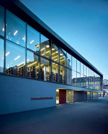 LIBRARY AND LECTURE BUILDING AT BAUHAUS UNIVERSITY,