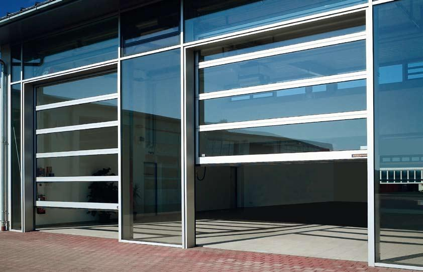 Industrial sectional door, ALS Crystal Clear: Hörmann Industrial Doors and Operators Make a Clear Difference.