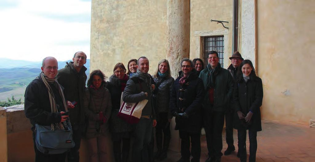 FELLOWS TRIP to PIENZA and BAGNO VIGNONI 10 c Tattiani take to the Baths On the first day of December, Eugenio Refini and Cecilia Muratori led the I Tatti Fellows on a day trip to explore two small