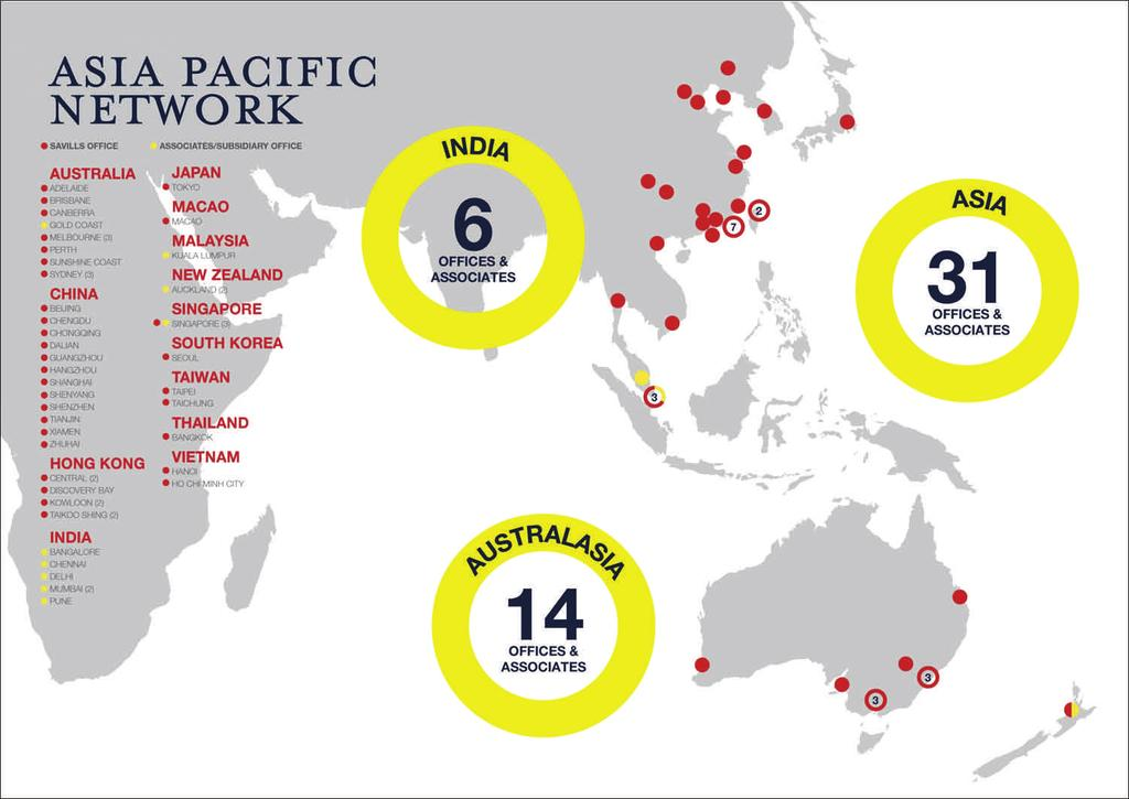Pacific, Africa, and the Middle East. Savills is the fourth global agent by world turnover and is the leading UK agency by group turnover.