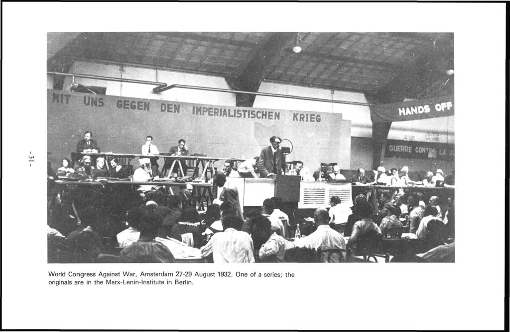 World Congress Against War, Amsterdam 27-29 August 1932.