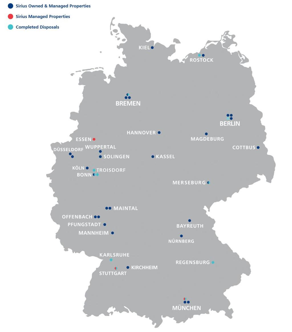 Completed Disposals/Map Disposals Summary Sale Price m Bremen Brinkmann Land 1.1 Munich HMS 6.8 Berlin Wittenau 2.3 Bonn-Siemenstr. Car Park Land (6,100 sqm) 0.6 Bonn Köwi - Reifen.Com 1.