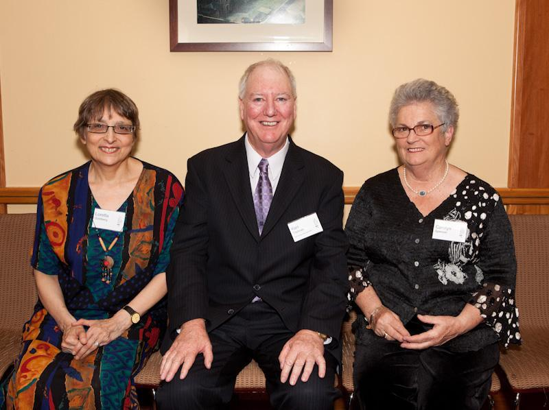AUSTRALIAN ACCOUNTING HALL OF FAME 2011 INDUCTEES L-R - Louis Goldberg AO represented by his daughter