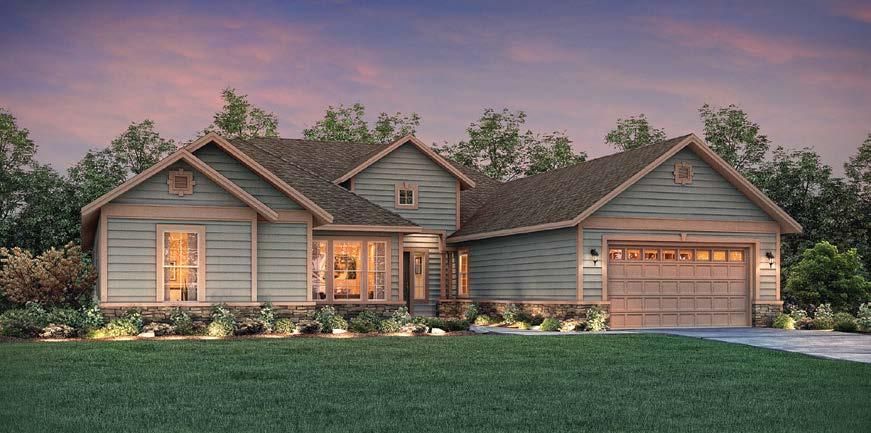 Shadow Ridge home provides an impressive 3,043 square feet with an open floor plan.
