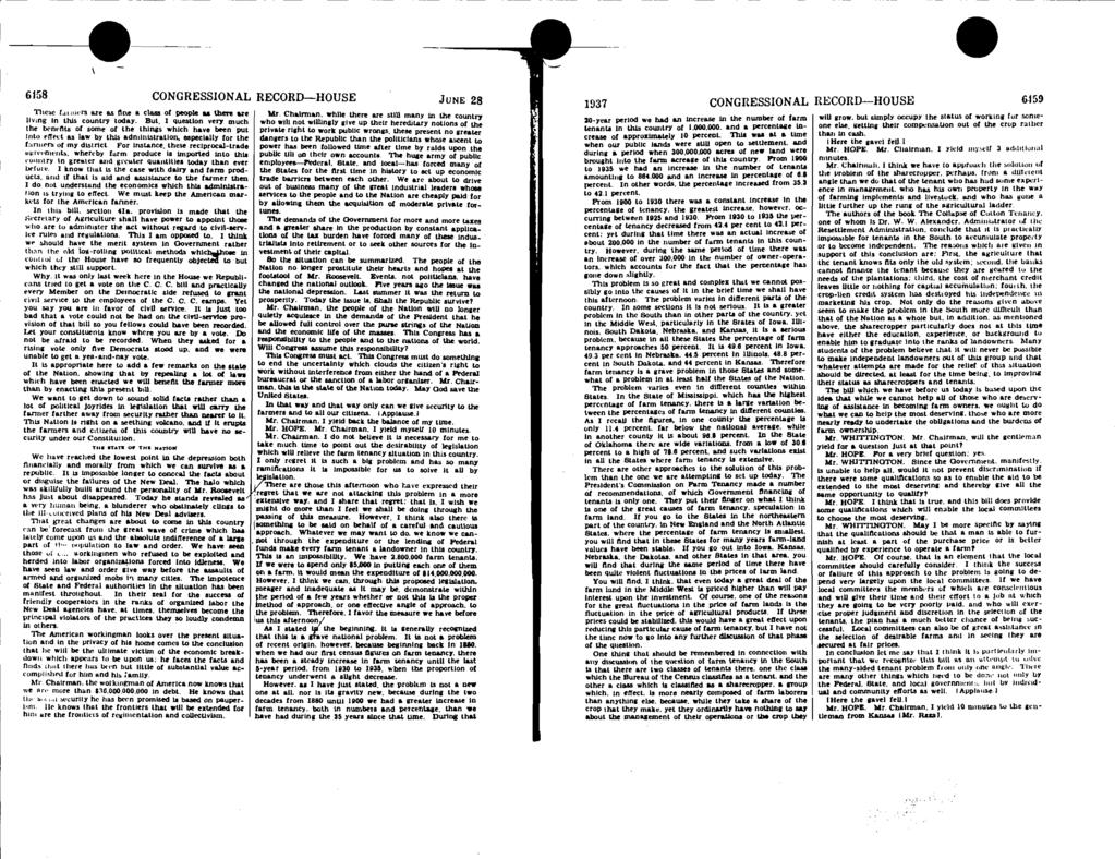 6158 CONGRESSIONAL RECORD-HOUSE JUNE 28 ItJ37 CONGRESSIONAL RECORD-HOUSE 6.159 These I. ricrs axe as tine a class of people as there axe living in this country today.