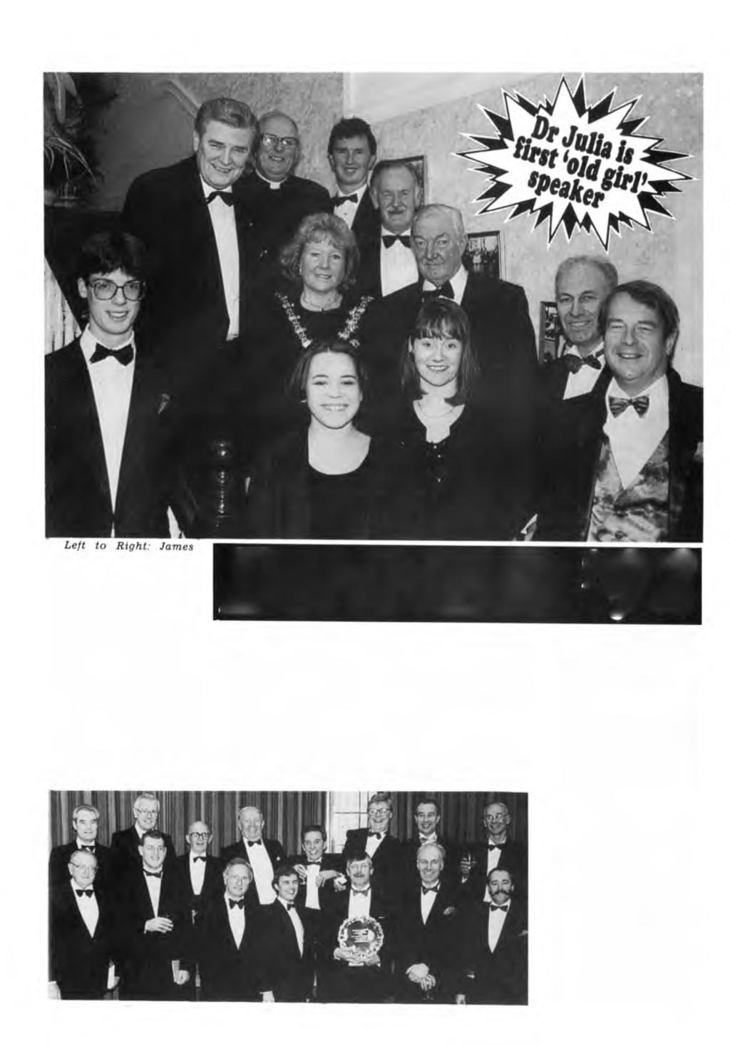 SPRING 1993 MAGISTER - PAGE 11 Coleman, Head Boy; Keith Gledhill, High Sheriff; The Very Reverend David Frayn, the new Provost of Blackburn; Councillor Mrs.