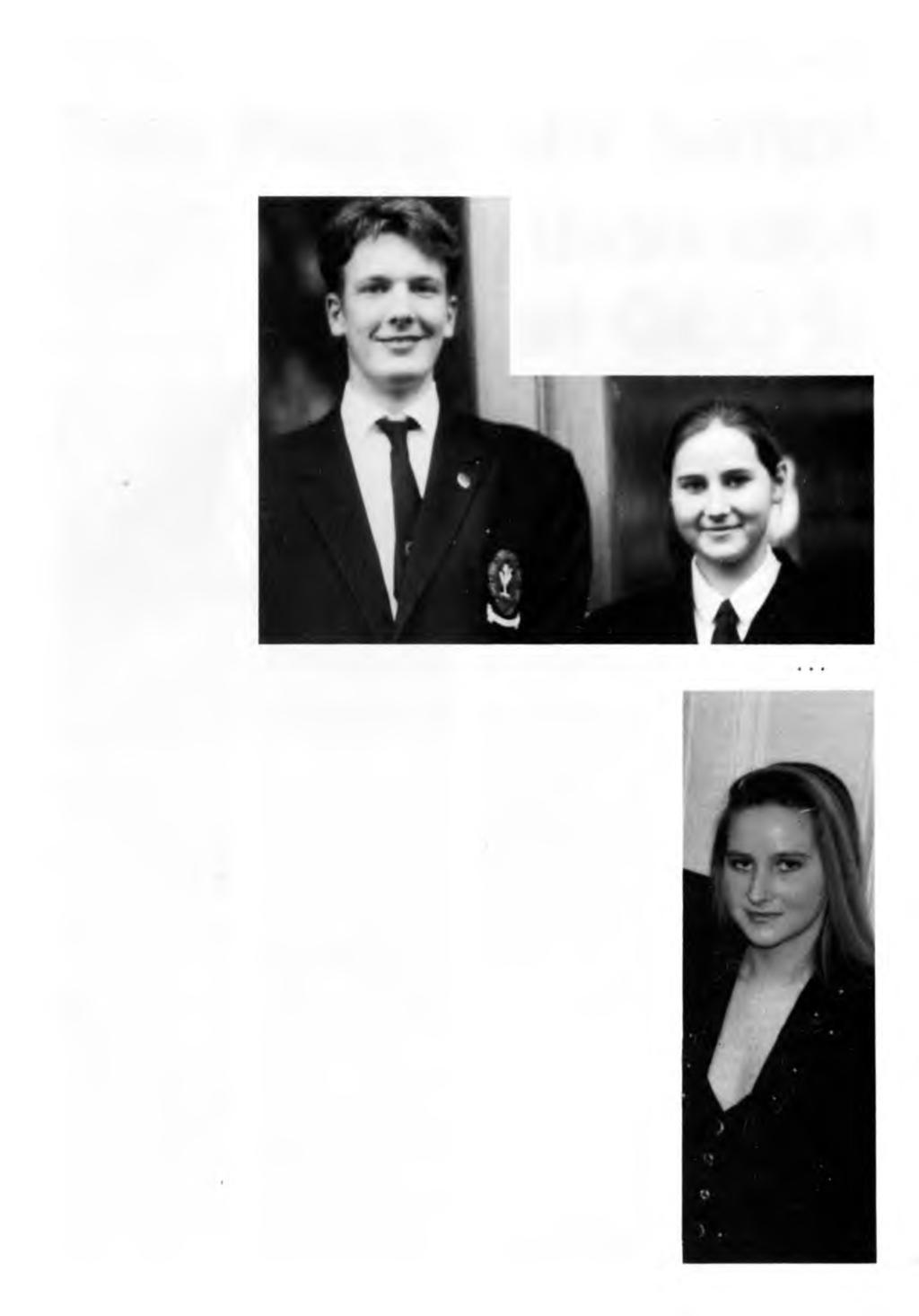 AUTUMN 1994 MAGISTER - PAGE 23 Two Heads are better Magister talks to William Coleman and Virginia Hayton, Head Boy and Head Girl 93/94 than one at QEGS!