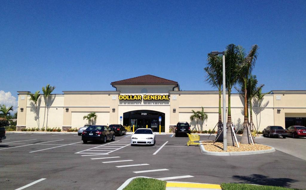 DOLLAR GENERAL 2 Deal Cape Coral, FL Excellent Demographics 117,421 w/in 5 Miles Dollar General Rent Increase (Yr.