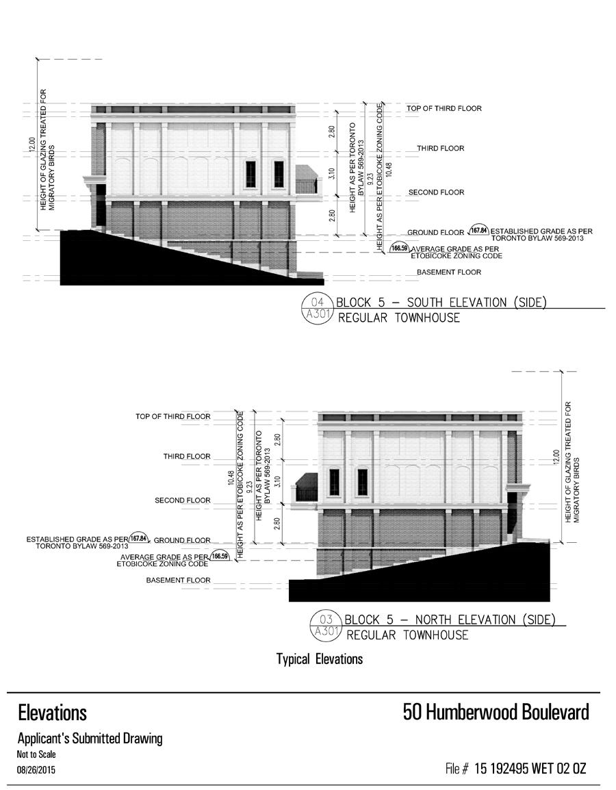 Attachment 2b: Elevations (Freehold Street Townhouses) Staff