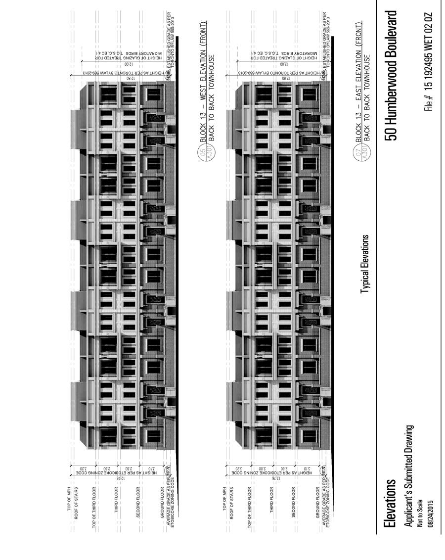 Attachment 2e: Elevations (Back-to-Back Townhouses) Staff
