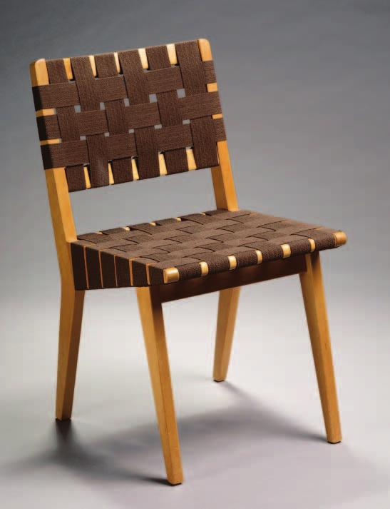 Chair. Designed by Jens Risom (American, b. Denmark, 1916 1977) about 1942; modified by Knoll Associates Inc. about 1946; birch, cotton webbing; 78.7 x 44.5 x 50.8 cm; Gift of Mr. and Mrs.