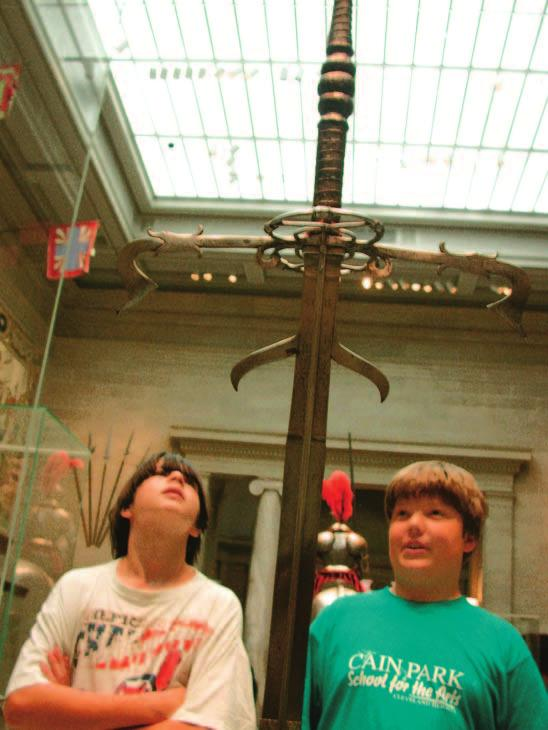 ANNUAL GIVING Two would-be knights gaze at a two-handed sword. Annual Giving includes all gifts to support the museum s annual operating budget.