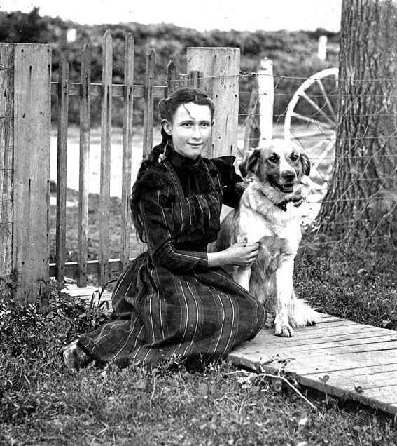 Clementine Bleakney, with Hero, at Ash Grove Farm (Collection of Richard