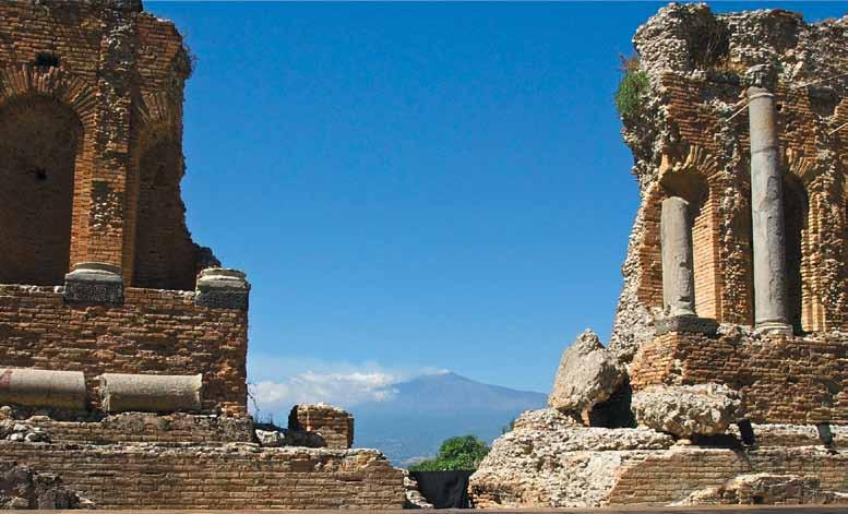 Evolutionary Ruins of a Roman Amphitheater - Taormina,