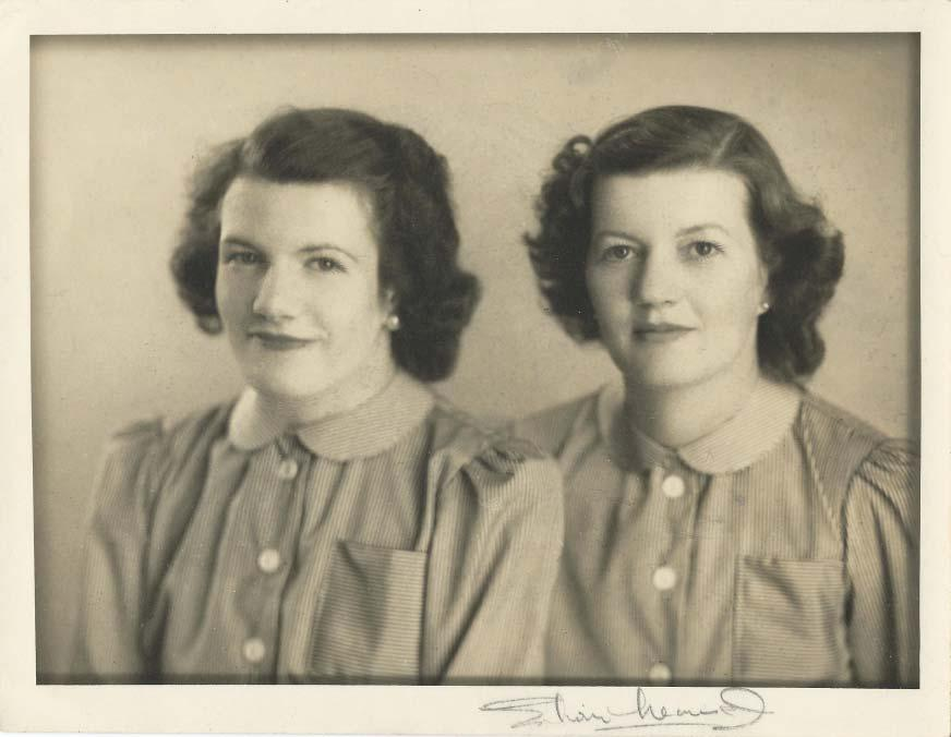 Fig. 39: Photo of Jill Winterbottom (left) and her mother Mary (Ward) Winterbottom (right). Reproduced with kind permission of Jacqueline Anne Ward.