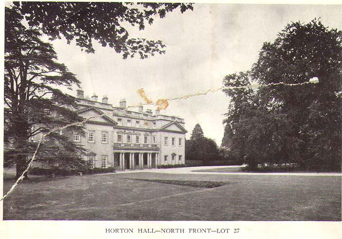 Fig. 50: Horton Hall 1935 North View by Knight, Frank & Rutley - Horton Hall Estate Auction Document 1935.