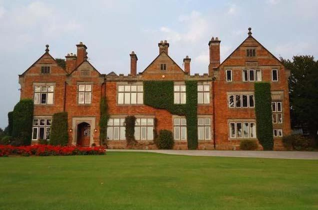 Description. The manor has been described as in the Jacobean style. This may be the latest remodel. Fig.