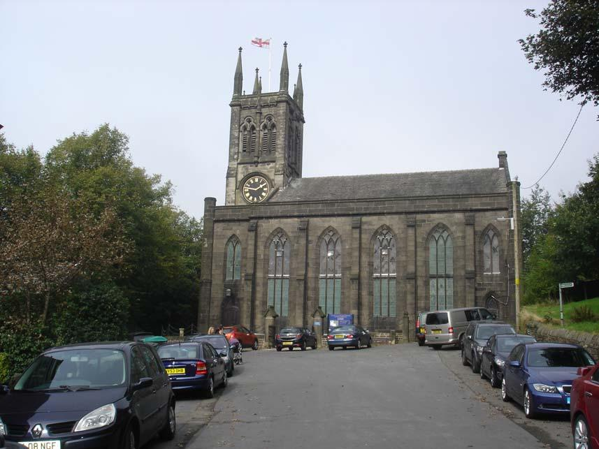 Fig. 5: Saddleworth St Chad, photo taken by author 2014 Highfield Independent Chapel, Huddersfield, Yorkshire Highfield Chapel was built by a congregation disaffected by the local Anglican church,