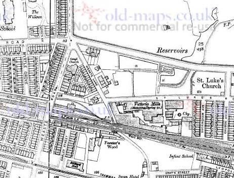 Fig. 11: Undated map of location of Victoria Mills in Weaste.