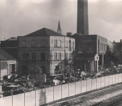 Fig. 19: 1972 photo of Victoria Mills in Weaste, belonging to Winterbottom Book Cloth Company. This photo was captioned Remains of Winterbottom Bookcloth Company.