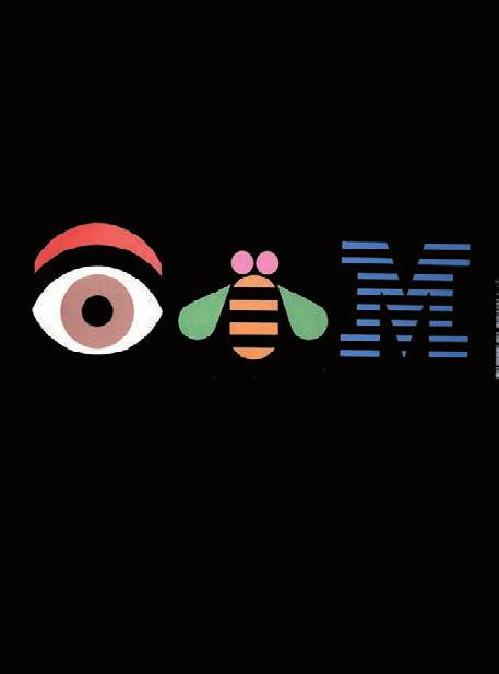 Paul Rand, The IBM Logo: Its Use in Company Identification, 1996. In this exuberant cover the IBM logo resembles exploding fireworks.