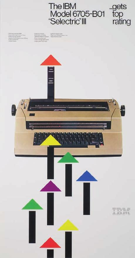 Jon Craine, Office Products Division poster to announce IBM s latest Selectric III typewriter, 1982.