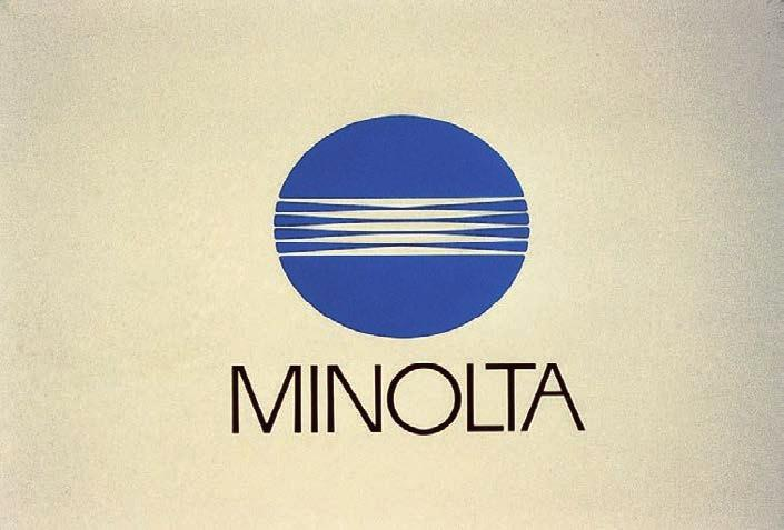 Saul Bass & Associates, trademark for Minolta, 1980. recognition even when viewed under these conditions.