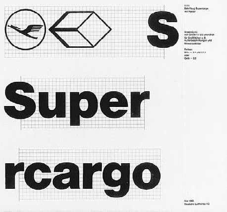 Aicher believed a large organization could achieve a uniform, and thus significant, corporate image by systematically controlling the use of constant elements.