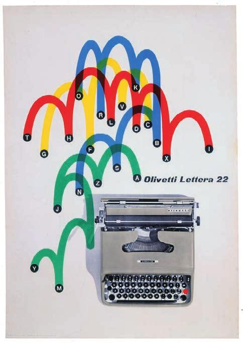 This complexity of form was well suited to Olivetti s publicity needs during the 1940s and 1950s, for the firm sought a high-technology image to promote advanced industrial design and engineering.