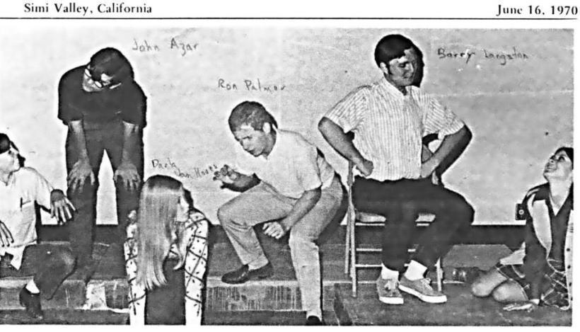 John Azar Darla Van Hoven Ron Palmer Barry Langston Debbie Sumner In Royal High s second year, some of the Drama Department presented a benefit performance of