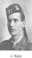 Surname Mudie Serial I3 James, MA Education Authority Offices, Dundee Royal Scots Lieutenant 1 October 1916 Struma Valley, Salonica An able student of University College, Dundee, and an enthusiastic