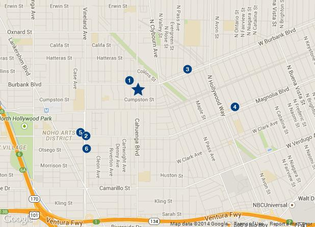 RENT COMPARABLES RENT COMPARABLES MAP 1) 2) 3) 4) 5) 6) 5554-5558 Cahuenga Boulevard 10638 Burbank Boulevard 5140