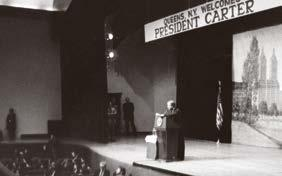 43: First Lady Eleanor Roosevelt appears on campus at the first Spring Victory Lecture.
