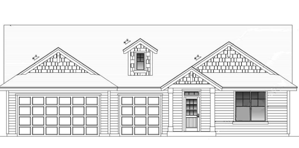 Aumsville Burgandy Great room floor plan Gas fireplace Island kitchen 2,126 SF 3 Bedroom / 2 Bath / 2,126 sq. ft.