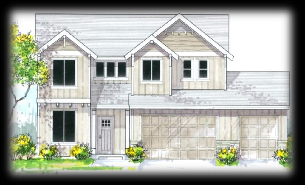Arlington F-3 2,399 SF Great room floor plan Gas fireplace & built-ins Island kitchen Main level bedroom/office 2nd level