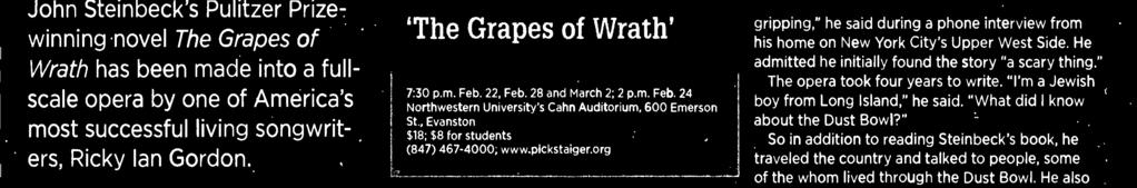 'Grapes of Wrath' n conjunction with Utah Opera.