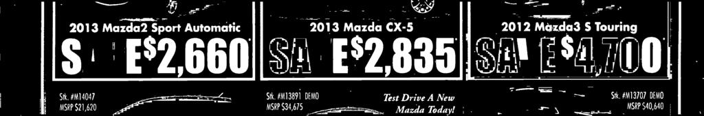 com 2012 Mazda CX-9 Grand Touring SAVE 1,945 Saturday 9 a.m. to 6p.
