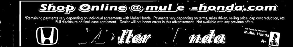 Dealer will not honor