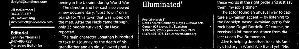 , Evanston $30-$40, $25 for previews, Feb. 21-24 (847) 475-1875, Ext. 2: nexttheatre.