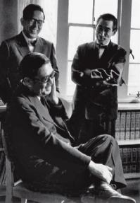 PREWAR MENTORS, POSTWAR PUPILS Japan s leading modernists pre-tange, Junzo Sakakura and Kunio Maekawa, have a European father figure: Le Corbusier. Tange, next in line, is freer from his influence.