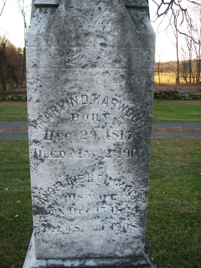 Harwood Born January 21, 1820 Died March 21, 1893 Emma R.