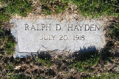 Agnes Hayden Kibbe was their sister. Ralph D.