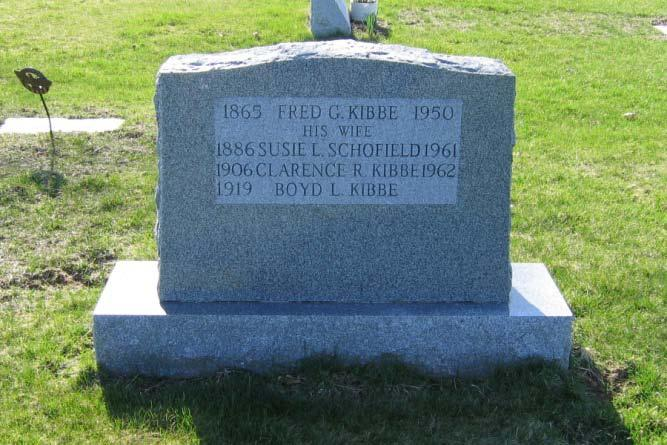 Fred G. Kibbe 1865 1950 Susie L.
