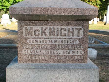 Sikes (McKnight) October 29, 1867 July 12, 1956