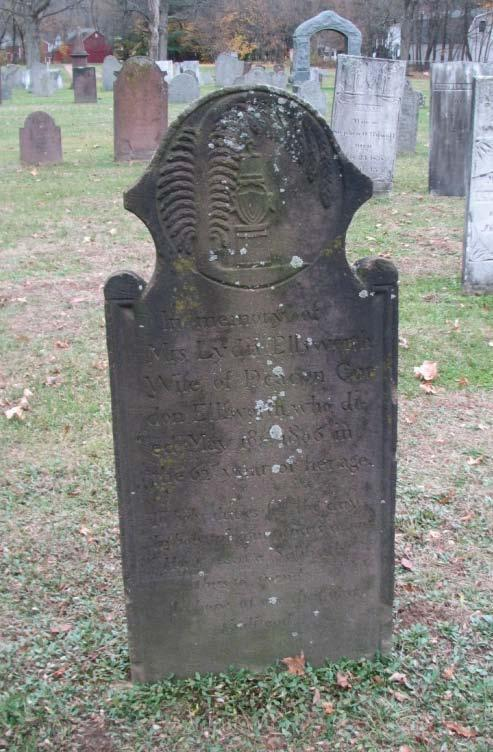 Lydia Ellworth who Died March 23d 1799 n memory of Mrs.