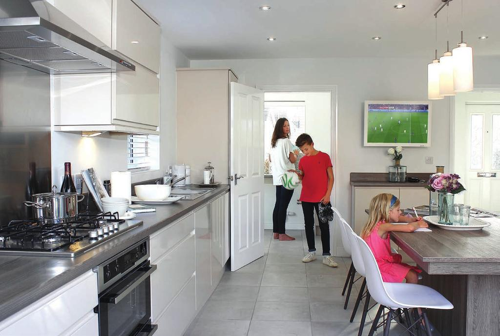 personality on your new home including kitchen