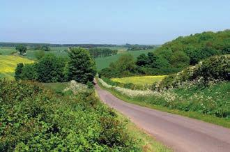 the Lincolnshire Wolds, countryside and villages.